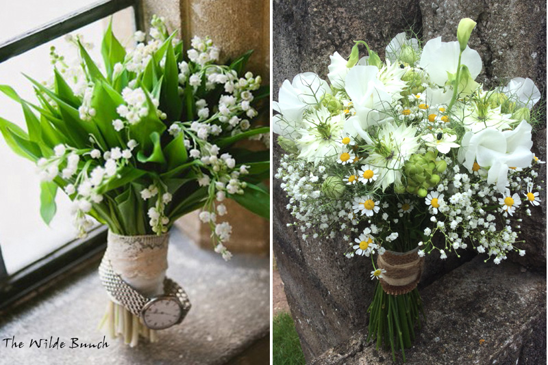 Simple Wedding Bouquets by The Wilde Bunch, Top Bristol wedding florists. Part of a full feature on wedding bouquets