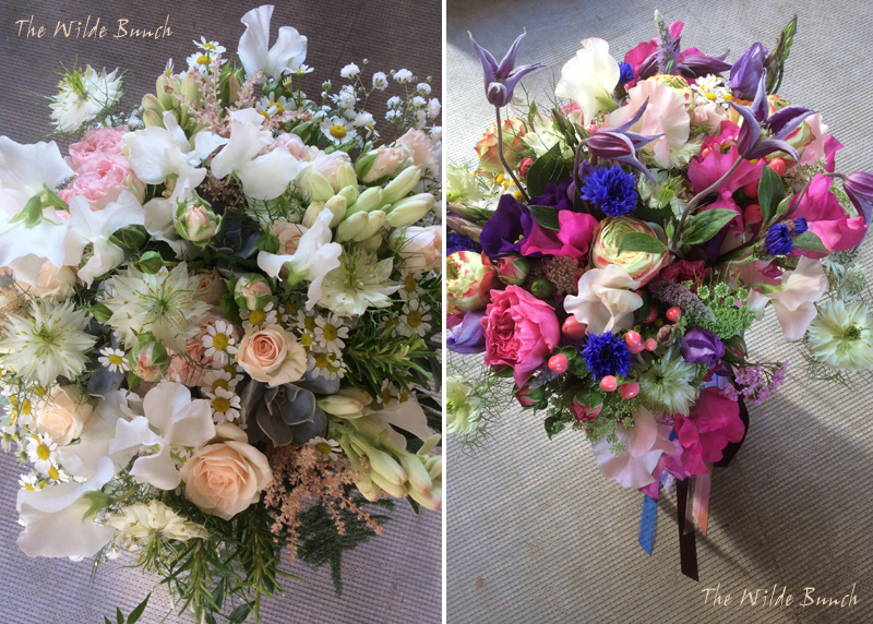 Rustic Pastel Wedding Bouquet And Colourful