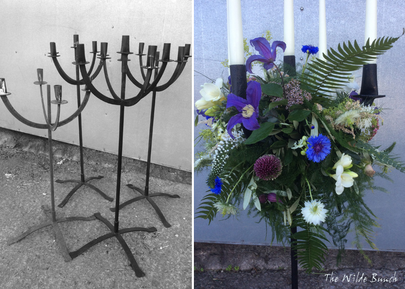 Wedding props, Black iron candelabra