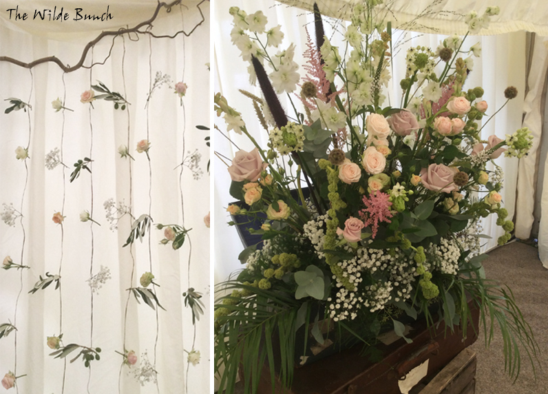 floral curtain for wedding flower design