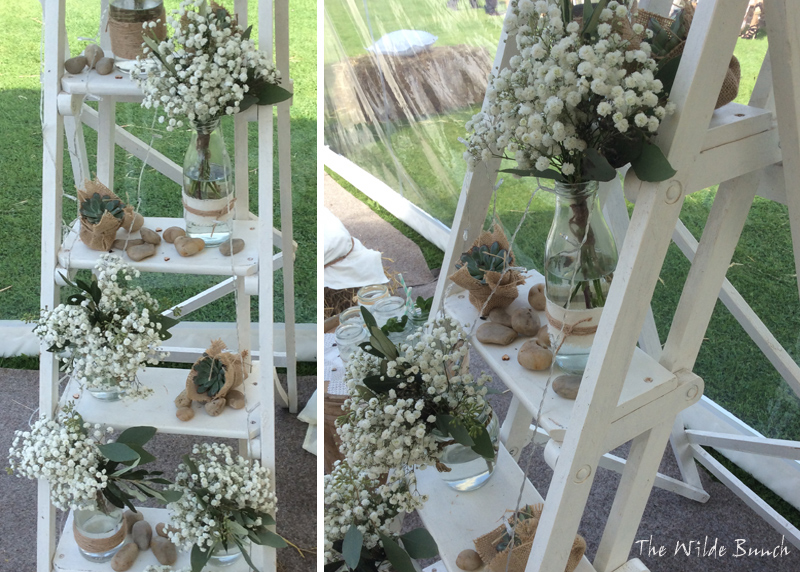 marquee wedding flower ideas