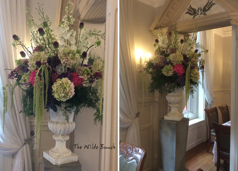 wedding flowers, large floral designs