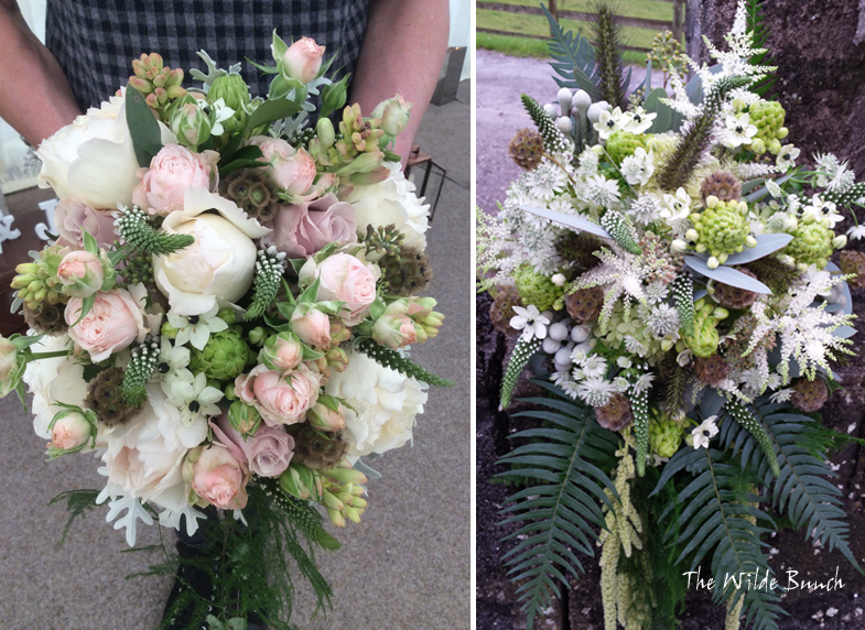 trailing summer wedding bouquets