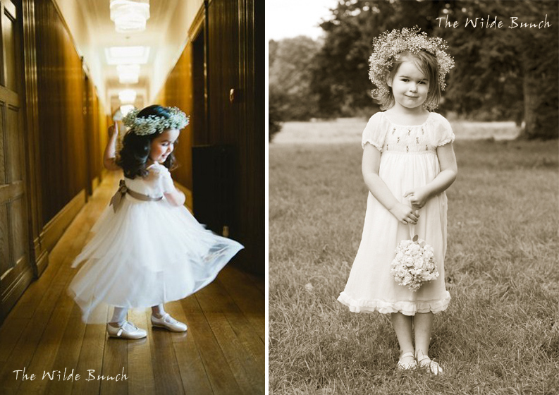 Floral crowns for flower girls