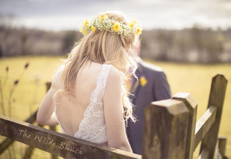 Summer Bride with a 'Natural' Floral Crown