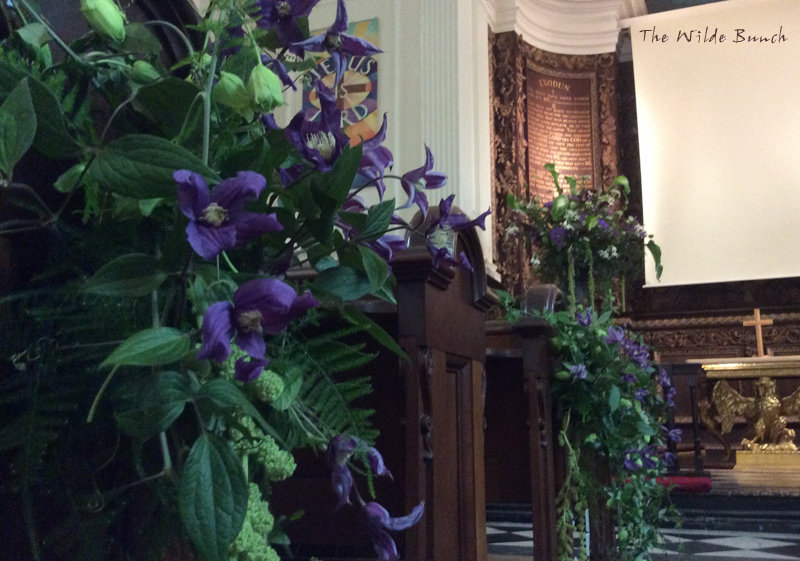 Church pew end wedding flower ideas