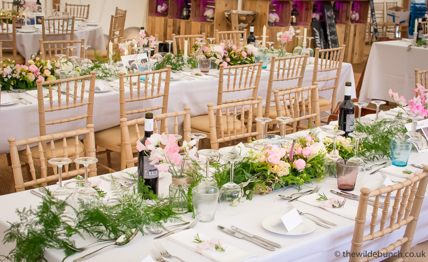 marquee wedding tablecentre